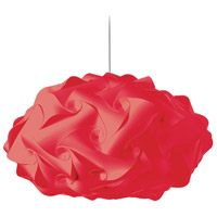 Globus 3 Light 25 inch Red Pendant Ceiling Light