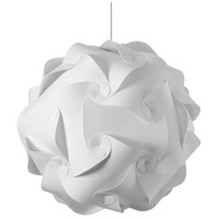 Dainolite DBL-L-790 Globus 3 Light 26 inch White Pendant Ceiling Light