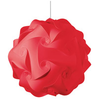 Globus 3 Light 26 inch Red Pendant Ceiling Light