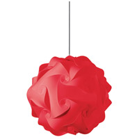 Globus 1 Light 16 inch Red Pendant Ceiling Light