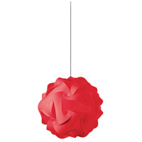 Dainolite Globus 1 Light Pendant in Red DBL-S-795
