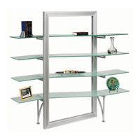Dainolite Lighting Bookshelf Furniture in Frosted and Silver  DBS-400-GL-SV