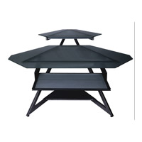 Dainolite Lighting Computer Table Furniture in Black Glass and Black Graphite  DCT-312-BGL-BK photo thumbnail