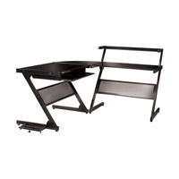 Dainolite Lighting Work Station Furniture in Black Glass and Black Graphite  DCT-340-BGL-BK photo thumbnail