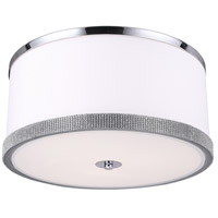 Dainolite DEV-153FH-PC Devonshire LED 15 inch Polished Chrome Flush Mount Ceiling Light