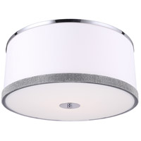 Dainolite DEV-204FH-PC Devonshire LED 20 inch Polished Chrome Flush Mount Ceiling Light