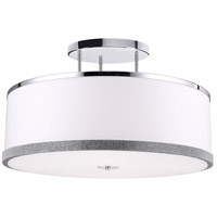 Devonshire 5 Light 30 inch Polished Chrome Semi Flush Mount Ceiling Light