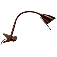 Clip-On 19 inch 50 watt Oil Brushed Bronze Table Lamp Portable Light
