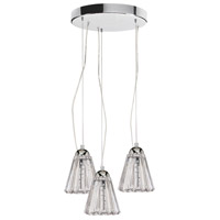 Dainolite Lighting Crystal 9 Light Pendant in Polished Chrome  DHC593-12R-PC