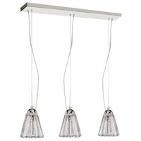 Dainolite Crystal 9 Light 6 inch Polished Chrome Pendant Ceiling Light