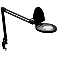 Dainolite Lighting Magnifier 1 Light Table Lamp in Black  DIM10A-5D-BK