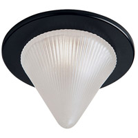 Dainolite Glass Cone Recessed Light Trim Accessory in Black DL221-BK