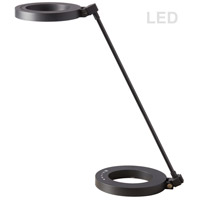 Dainolite DLED-202T-BK Signature 16 inch 8.5 watt Matte Black Desk Lamp Portable Light thumb
