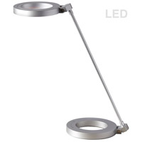 Dainolite DLED-202T-SV Signature 16 inch Silver Desk Lamp Portable Light