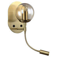 Dainolite DLED112-W-AGB Signature 2 Light 6 inch Aged Brass Wall Sconce Wall Light