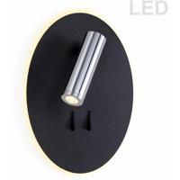 Dainolite DLED462-BK Signature LED 7 inch Black Wall Sconce Wall Light
