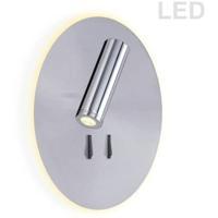 Dainolite DLED462-SC Signature LED 7 inch Satin Chrome Wall Sconce Wall Light