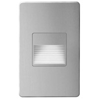 Signature LED 3 inch Brushed Aluminum Wall Light, Rectangle