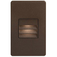 Signature LED 3 inch Bronze Wall Light, Rectangle