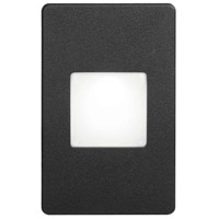 Signature LED 3 inch Black Wall Light, Rectangle