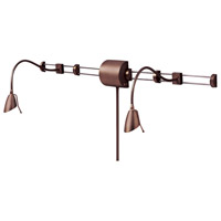 Dainolite Lighting Reading Light 2 Light Wall Lamp in Oil Brushed Bronze  DLHAW101-OBB