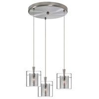 Dainolite Lighting Round 3 Light Pendant in Satin Chrome  DLSL309-12R-CM-SC