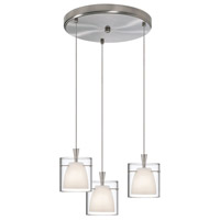 Dainolite Lighting Round 3 Light Pendant in Satin Chrome  DLSL309-12R-WH-SC