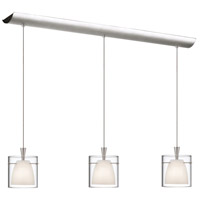 Dainolite Lighting Signature 3 Light Pendant in Satin Chrome  DLSL309-34L-WH-SC