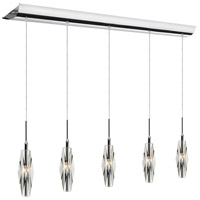 Dainolite Lighting Crystal 5 Light Pendant in Polished Chrome  DLSL455-PC-34L