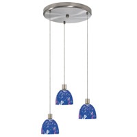 Dainolite Lighting Round 3 Light Pendant in Satin Chrome  DLSL701-12R-BM-SC