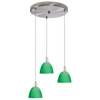 Dainolite Lighting Round 3 Light Pendant in Satin Chrome  DLSL701-12R-GR-SC