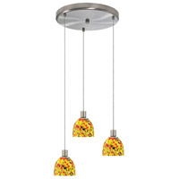 Dainolite Lighting Round 3 Light Pendant in Satin Chrome  DLSL701-12R-YM-SC