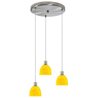 Dainolite Lighting Round 3 Light Pendant in Satin Chrome  DLSL701-12R-YP-SC