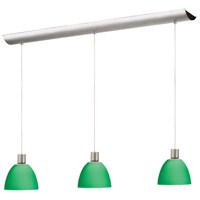 Rectangle 3 Light 5 inch Satin Chrome Pendant Ceiling Light