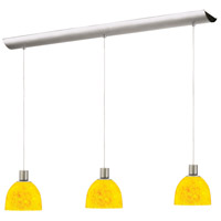 Dainolite Lighting Rectangle 3 Light Pendant in Satin Chrome  DLSL701-34L-YP-SC