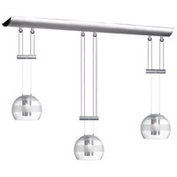 Dainolite Lighting Adjustable 3 Light Pendant in Satin Chrome  DLSL833-SC-CF