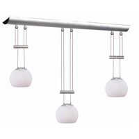 Dainolite Lighting Adjustable 3 Light Pendant in Satin Chrome  DLSL833-WH-SC