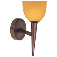 Dainolite DLSLW7700-AM-OBB Amber Glass 1 Light 5 inch Oil Brushed Bronze Wall Lamp Wall Light photo thumbnail