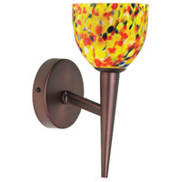 Yellow Mosaic Glass 1 Light 5 inch Oil Brushed Bronze Wall Lamp Wall Light