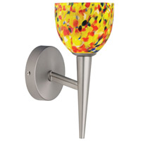 Yellow Mosaic Glass 1 Light 5 inch Satin Chrome Wall Lamp Wall Light