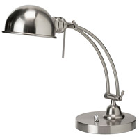 Pharmacy 18 inch 60 watt Satin Chrome Table Lamp Portable Light
