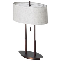 Dainolite Lighting Signature 2 Light Table Lamp in Oil Brushed Bronze  DM2222-OBB