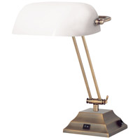 Dainolite Lighting Banker 1 Light Table Lamp in Antique Brass  DMBL618-AB