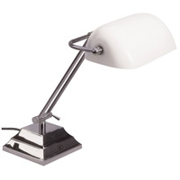 Dainolite Lighting Banker 1 Light Table Lamp in Satin Chrome  DMBL618-SC