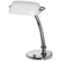 Dainolite Lighting Banker 1 Light Table Lamp in Polished Chrome  DMBL710-PC