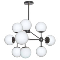 Domi LED 26 inch Black Chandelier Ceiling Light