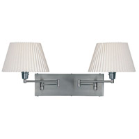 Swing-Arm 2 Light 22 inch Satin Chrome Wall Lamp Wall Light