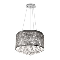 Dainolite Lighting Crystal 5 Light Chandelier in Polished Chrome  DOM-8585C-PC