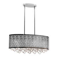 Dainolite Lighting Crystal 6 Light Chandelier in Polished Chrome  DOM-8587C-PC