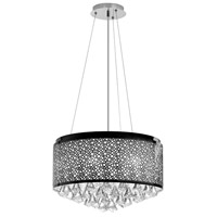 Dainolite Lighting Crystal 6 Light Chandelier in Polished Chrome  DOM-8588C-PC